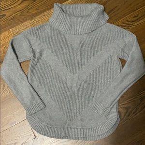 Beautiful grey cowl neck sweater !